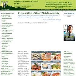 Heavy Metal Detox Natural Remedies Heavy Metals Poisoning NYC