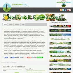 Natural Remedies - Sustainable Man