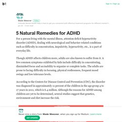 5 Natural Remedies for ADHD