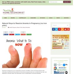 Natural Ways to Resolve Anemia in Pregnancy (no iron pills!)