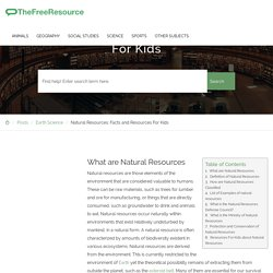 Natural Resources: Facts and Resources For Kids