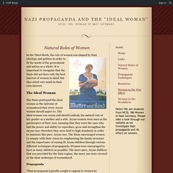 Challenge website: The Nazi 'ideal' woman