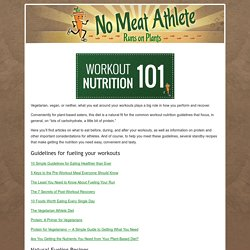Running Fuel Recipes and Guidelines