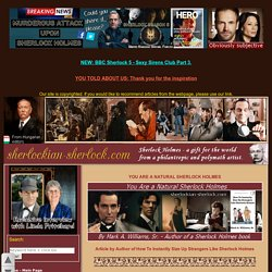 You are a natural Sherlock Holmes - deduction article