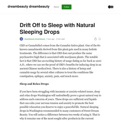Drift Off to Sleep with Natural Sleeping Drops