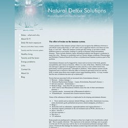 Natural Detox Solutions - Toxicity and the immune system