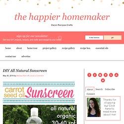 DIY All Natural Sunscreen