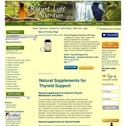 Best Quality Natural Supplements for Thyroid