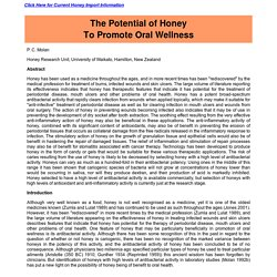 Honey! Natural Treatment for Gum Disease