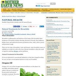 Natural Treatments for Bronchitis - Natural Health