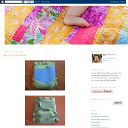 Recycled t-shirt diaper
