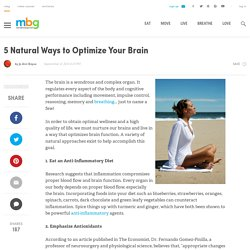 5 Natural Ways to Optimize Your Brain