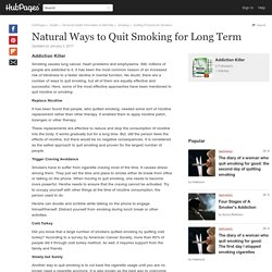 Natural Ways to Quit Smoking for Long Term