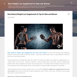 Best Natural Weight Loss Supplements & Tips for Men and Women