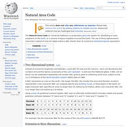 Natural Area Code
