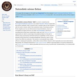 Naturalistic science fiction - Battlestar Wiki
