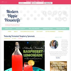 Naturally Fermented Raspberry Lemonade - Modern Hippie Housewife
