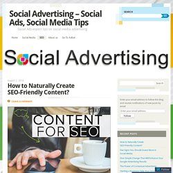 Social Advertising - Social Ads, Social Media Tips