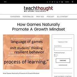 How Games Naturally Promote A Growth Mindset