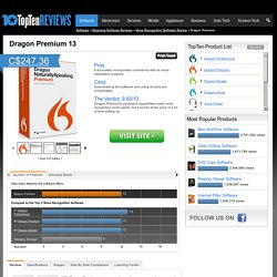Dragon NaturallySpeaking Premium Review 2015