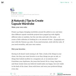 Tips to Create Capsule Wardrobe – Medium