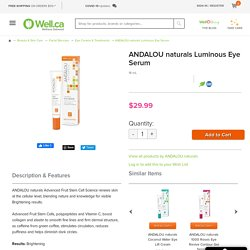 Buy ANDALOU naturals Luminous Eye Serum at Well.ca