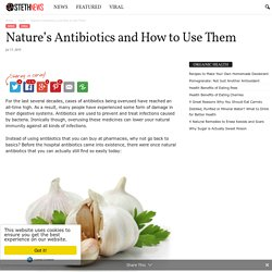 Nature's Antibiotics and How to Use Them