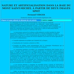 Nature et artificialisation dans la baie du Mont-Saint-Michel