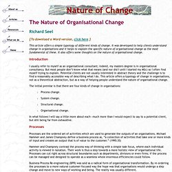 Nature of Change