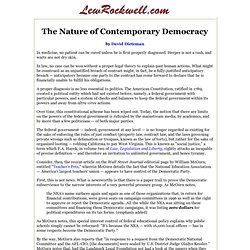 The Nature of Contemporary Democracy