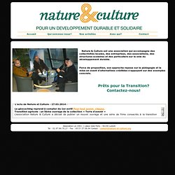 Nature & Culture D. Durable & Solidaire