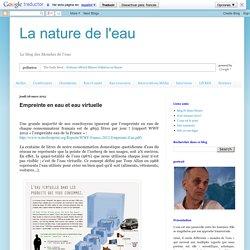 La nature de l'eau: Empreinte en eau et eau virtuelle