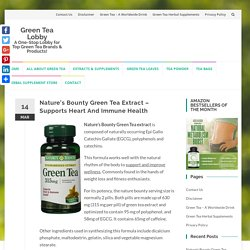 Nature's Bounty Green Tea Extract - Is The Herbal Supplement Any Good? Review!