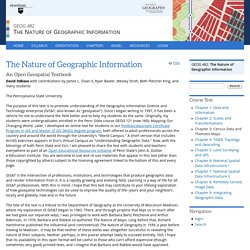 The Nature of Geographic Information