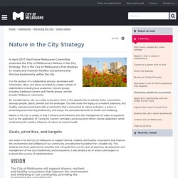 Nature in the City Strategy - City of Melbourne