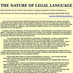nature of legal language