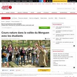 Cours nature dans la vallée du Menguen avec les étudiants