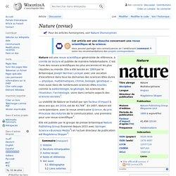Nature (revue)
