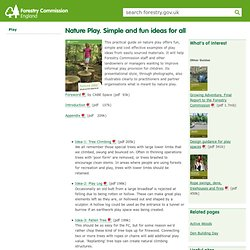 Nature Play. Simple and fun ideas for all