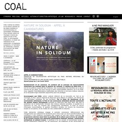 Nature in solidum – Appel à candidatures
