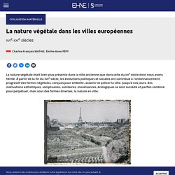 Nature végétale dans les villes européennes (La)
