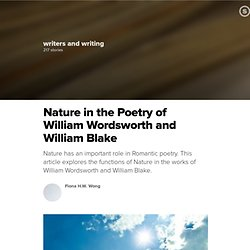 Nature in the Poetry of William Wordsworth and William Blake