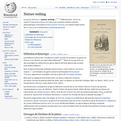 Wikipedia - Nature writing