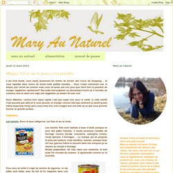 Mary-Au-Naturel: Manger VG et sur le pouce c'est possible.