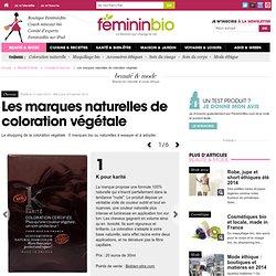 Les marques naturelles de coloration végétale
