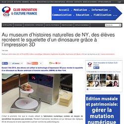 Au museum d'histoires naturelles de NY, des élèves recréent le squelette d'un dinosaure grâce à l'impression 3D