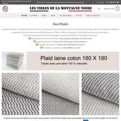 Plaids naturels laine et coton sans produits chimiques fabriqués en France