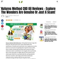 Natures Method CBD Oil Australia - My Fitness Web