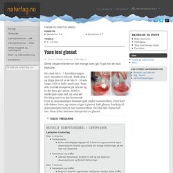 Naturfag.no: Vann inni glasset