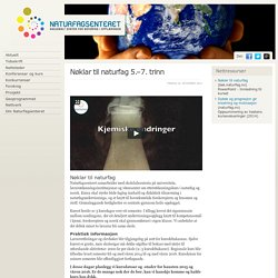 naturfagsenteret.no: Nøklar til naturfag 5.–7. trinn